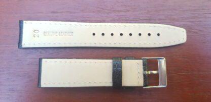 rear of goatskin leather strap
