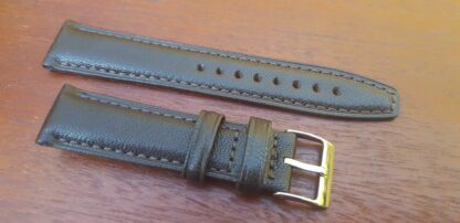 dark brown goat skin watch strap