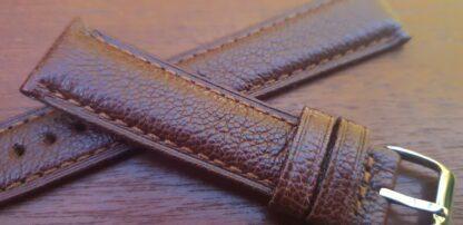 closeup goat leather watch strap