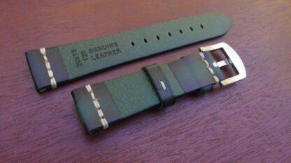 rear of kiamba green leather strap