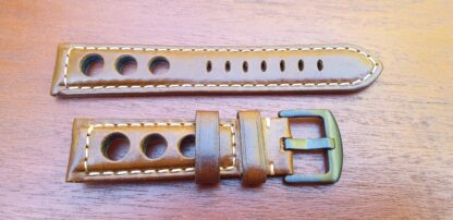 conondale leathjer rally strap brown with black buckle