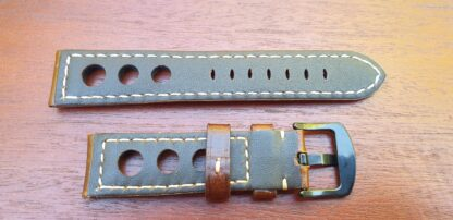 rear of conondale leather rally brown strap