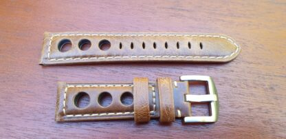 conondale light brown leather rally watch strap 3 hole