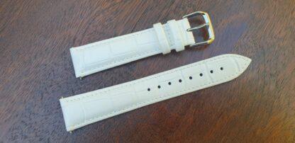 noosa white leather watch strap