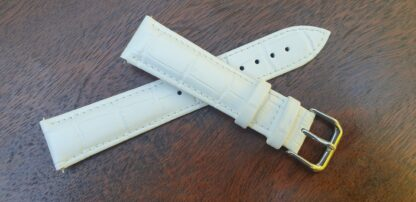Noosa white leather watch band