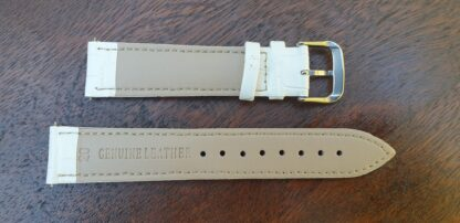 rear of noosa leather watch strap white