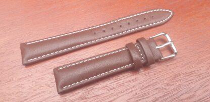 warana brown genuine leather watch strap