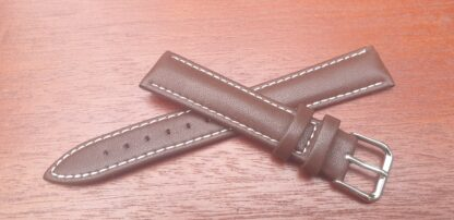 brown leather strap with white thread