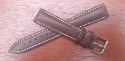 warana brown leather watch band