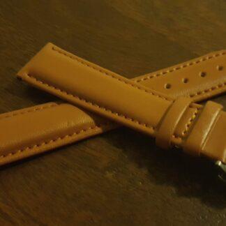 warana au tan leather watch strap with deployant clasp