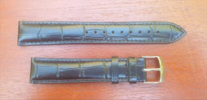 extra long leather strap black
